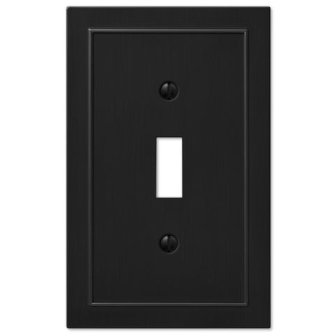 Bethany Matte Black Cast - 1 Toggle Wallplate - Wallplate Warehouse