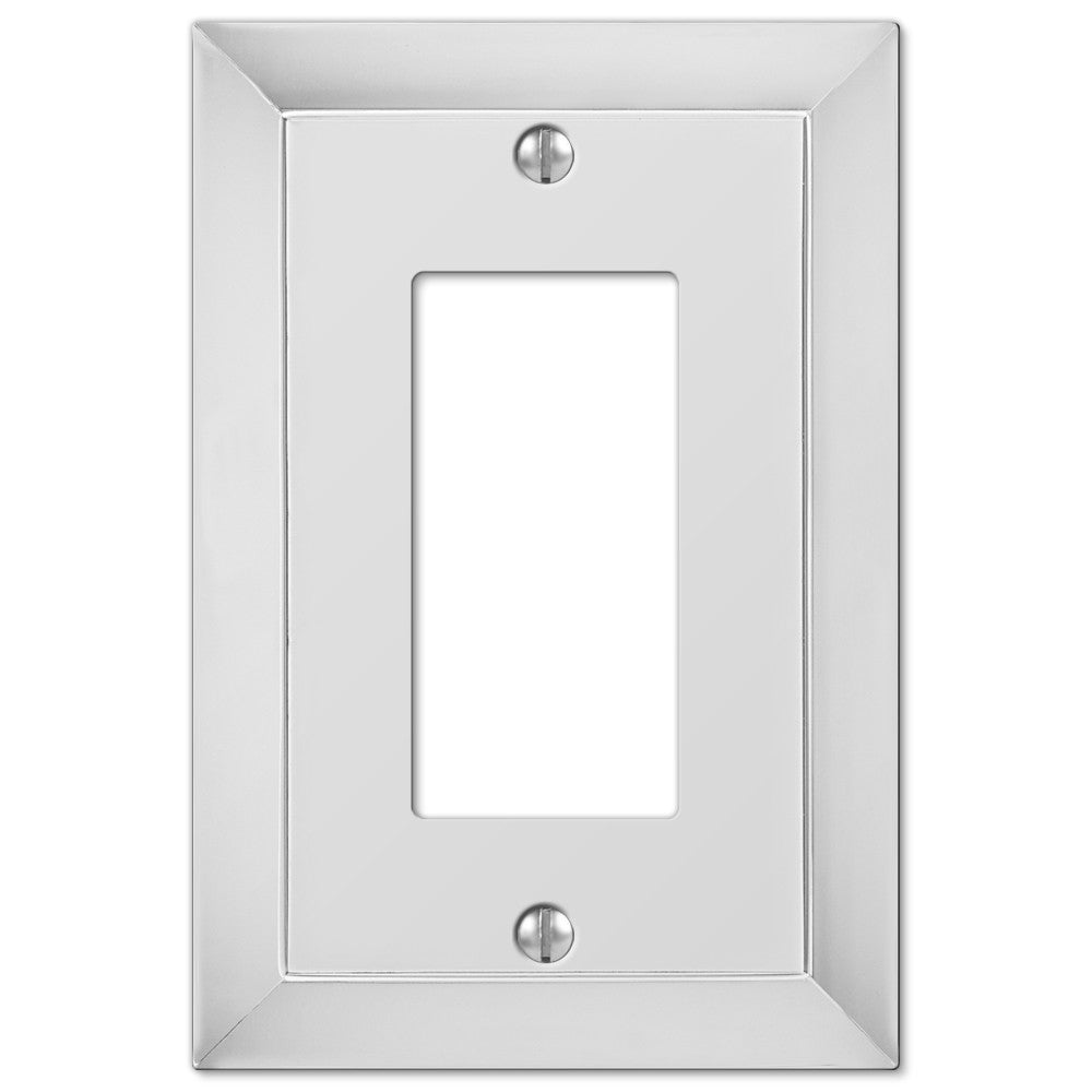 Studio Polished Chrome Cast - 1 Rocker Wallplate - Wallplate Warehouse