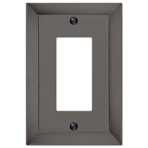 Studio Midnight Chrome Cast - 1 Rocker Wallplate - Wallplate Warehouse