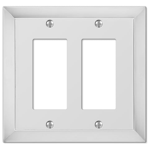 Studio Polished Chrome Cast - 2 Rocker Wallplate - Wallplate Warehouse