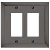Studio Midnight Chrome Cast - 2 Rocker Wallplate - Wallplate Warehouse