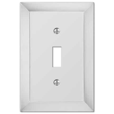 Studio Polished Chrome Cast - 1 Toggle Wallplate - Wallplate Warehouse