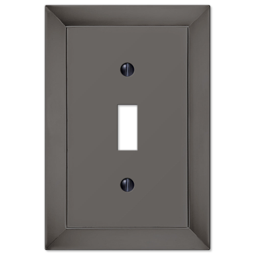 Studio Midnight Chrome Cast - 1 Toggle Wallplate - Wallplate Warehouse