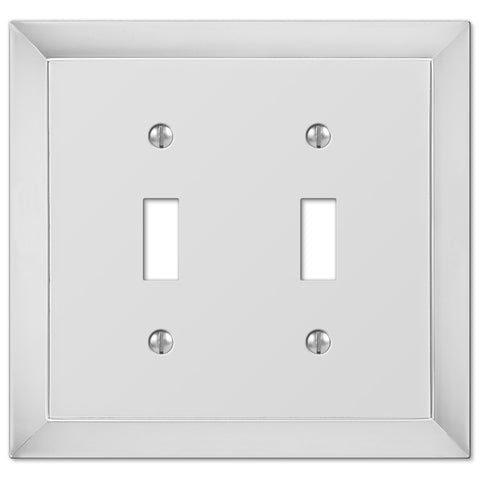 Studio Polished Chrome Cast - 2 Toggle Wallplate - Wallplate Warehouse