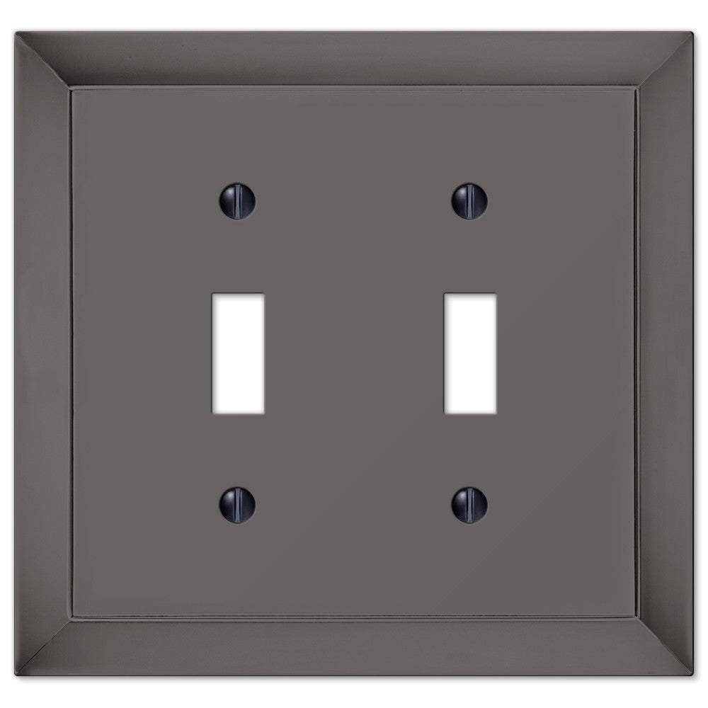 Studio Midnight Chrome Cast - 2 Toggle Wallplate - Wallplate Warehouse