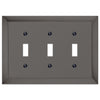 Studio Midnight Chrome Cast - 3 Toggle Wallplate - Wallplate Warehouse