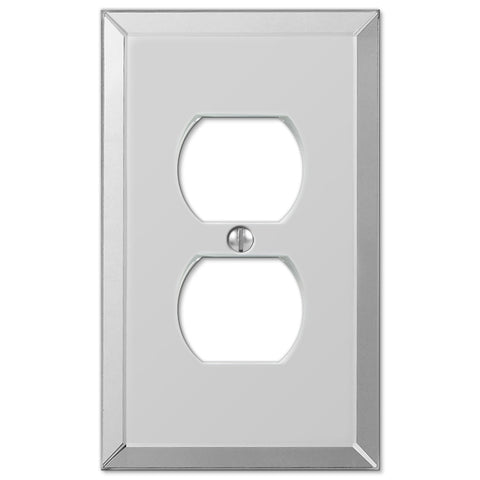 Mirror Clear Acrylic - 1 Duplex Outlet Wallplate - Wallplate Warehouse