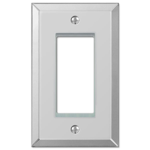 Mirror Clear Acrylic - 1 Rocker Wallplate - Wallplate Warehouse