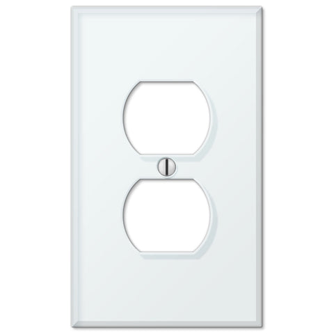 Glass Tile Mint Acrylic - 1 Duplex Outlet Wallplate - Wallplate Warehouse