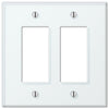 Glass Tile Mint Acrylic - 2 Rocker Wallplate - Wallplate Warehouse
