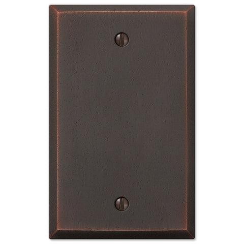 Manhattan Aged Bronze Cast - 1 Blank Wallplate - Wallplate Warehouse