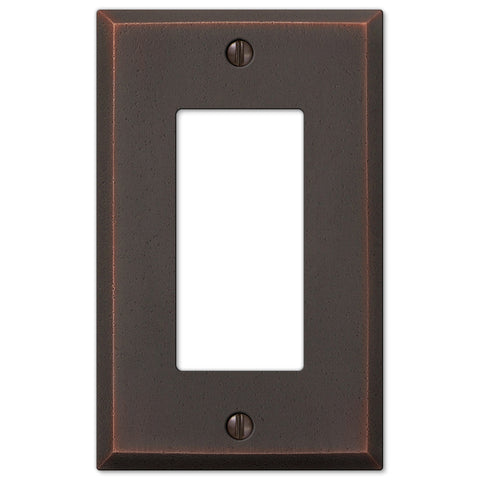 Manhattan Aged Bronze Cast - 1 Rocker Wallplate - Wallplate Warehouse