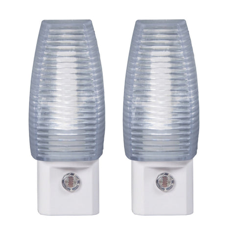 Faceted LED Automatic Night Light - 2 Pack
