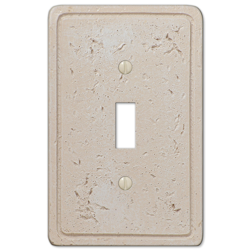 Faux Stone Cream Resin - 1 Toggle Wallplate - Wallplate Warehouse