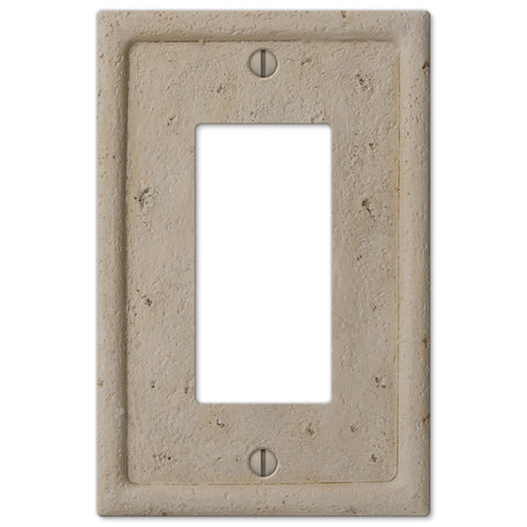 Faux Stone Beige Resin - 1 Rocker Wallplate - Wallplate Warehouse
