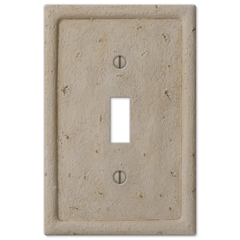Faux Stone Beige Resin - 1 Toggle Wallplate - Wallplate Warehouse