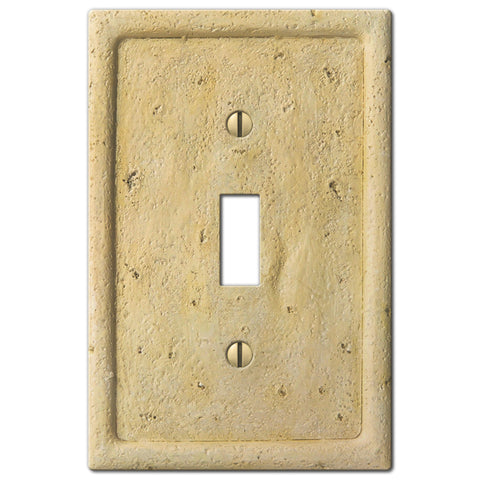 Faux Stone Ivory Resin - 1 Toggle Wallplate