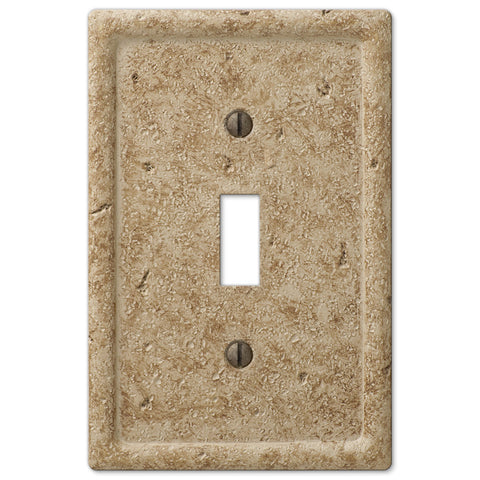 Faux Stone Noce Resin - 1 Toggle Wallplate - Wallplate Warehouse