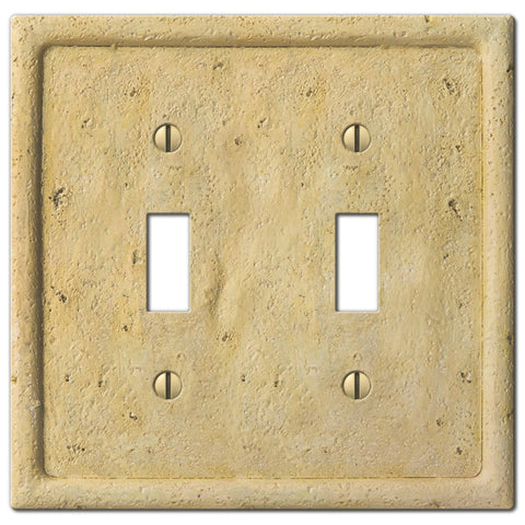 Faux Stone Ivory Resin - 2 Toggle Wallplate