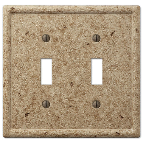 Faux Stone Noce Resin - 2 Toggle Wallplate - Wallplate Warehouse