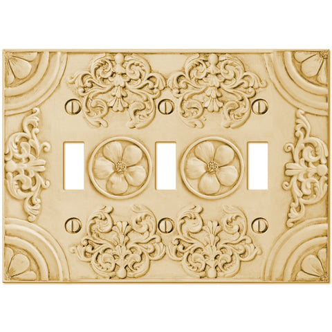 Canterbury Resin - 3 Toggle Wallplate