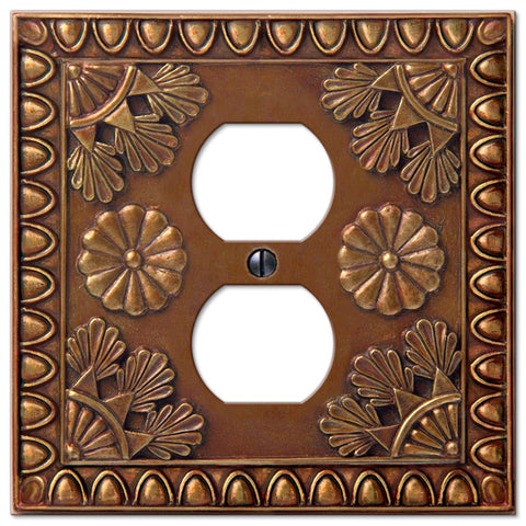 Amiens Copper Resin - 1 Duplex Outlet Wallplate - Wallplate Warehouse