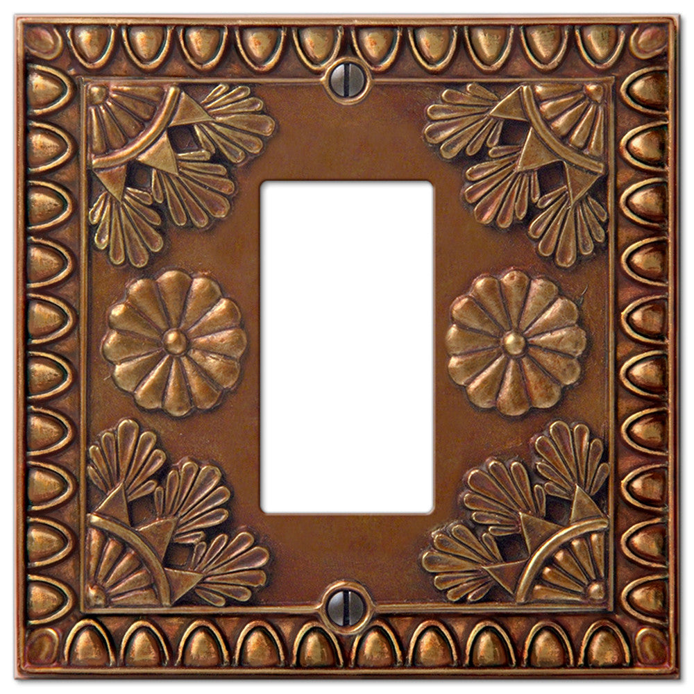Amiens Copper Resin - 1 Rocker Wallplate - Wallplate Warehouse