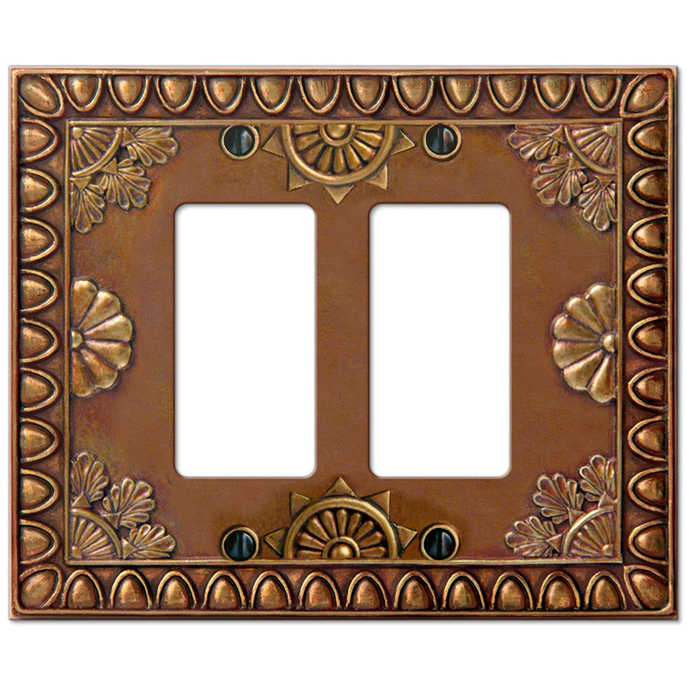 Amiens Copper Resin - 2 Rocker Wallplate - Wallplate Warehouse