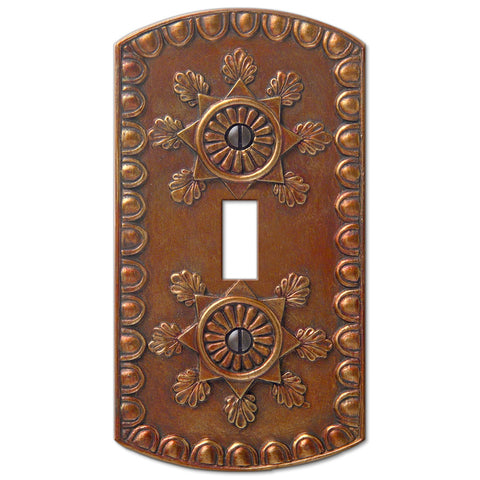 Amiens Copper Resin - 1 Toggle Wallplate - Wallplate Warehouse