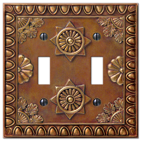 Amiens Copper Resin - 2 Toggle Wallplate - Wallplate Warehouse
