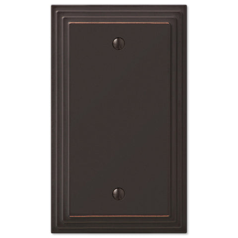Steps Aged Bronze Cast - 1 Blank Wallplate - Wallplate Warehouse