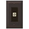 Steps Aged Bronze Cast - 1 Cable Jack Wallplate - Wallplate Warehouse