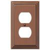 Steps Antique Copper Cast - 1 Duplex Outlet Wallplate - Wallplate Warehouse
