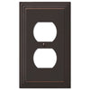 Steps Aged Bronze Cast - 1 Duplex Outlet Wallplate - Wallplate Warehouse