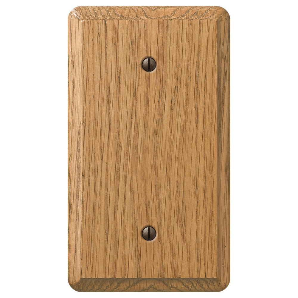 Contemporary Light Oak Wood - 1 Blank Wallplate - Wallplate Warehouse