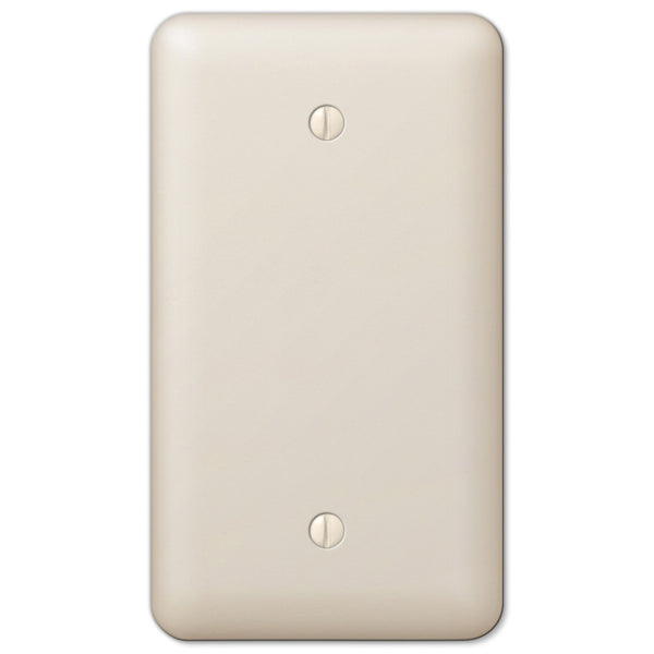 Devon Light Almond Steel - 1 Blank Wallplate - Wallplate Warehouse