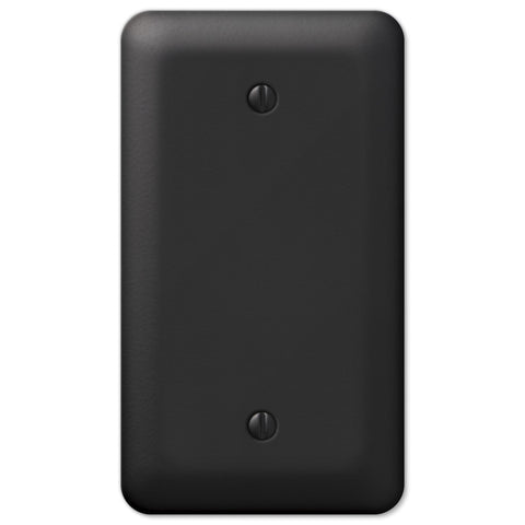 Devon Black Steel - 1 Blank Wallplate - Wallplate Warehouse