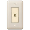 Devon Light Almond Steel - 1 Phone Jack Wallplate - Wallplate Warehouse