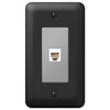 Devon Black Steel - 1 Phone Jack Wallplate - Wallplate Warehouse