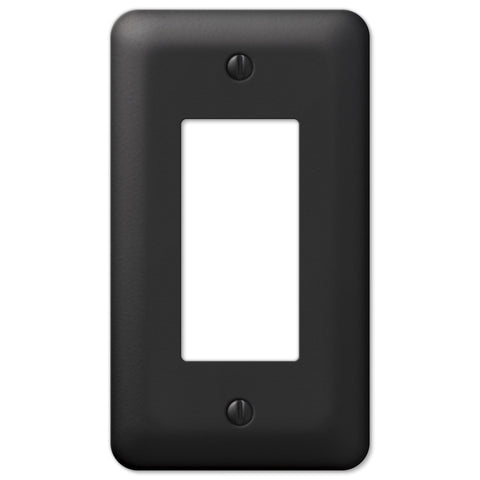 Devon Black Steel - 1 Rocker Wallplate - Wallplate Warehouse
