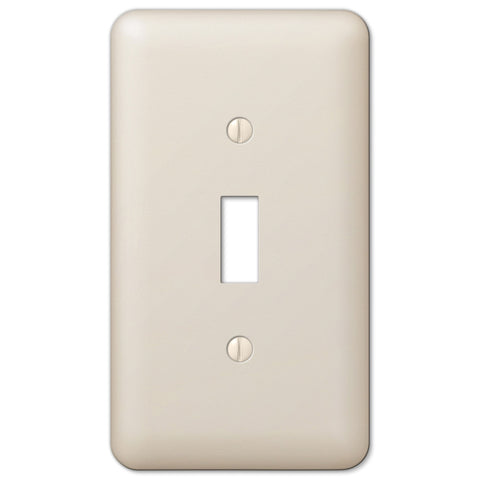 Devon Light Almond Steel - 1 Toggle Wallplate - Wallplate Warehouse