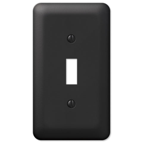 Devon Black Steel - 1 Toggle Wallplate - Wallplate Warehouse