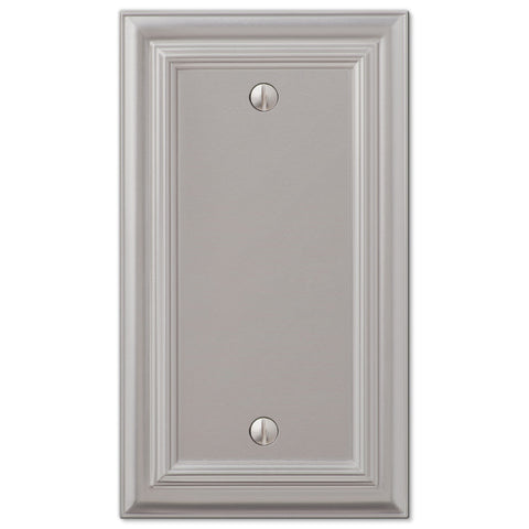Continental Satin Nickel Cast - 1 Blank Wallplate - Wallplate Warehouse