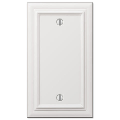 Continental White Cast - 1 Blank Wallplate - Wallplate Warehouse