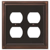 Continental Aged Bronze Cast - 2 Duplex Outlet Wallplate - Wallplate Warehouse