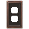Continental Aged Bronze Cast - 1 Duplex Outlet Wallplate - Wallplate Warehouse