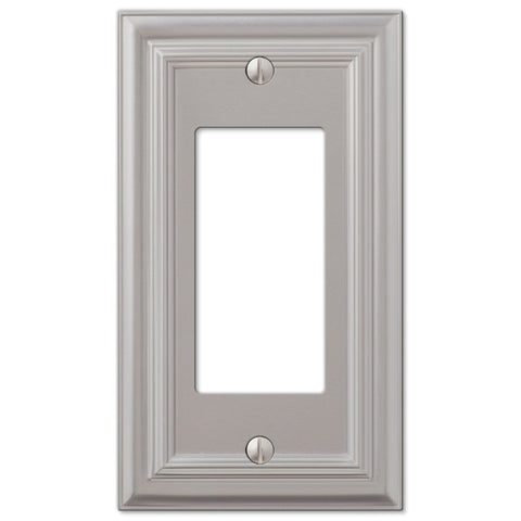 Continental Satin Nickel Cast - 1 Rocker Wallplate - Wallplate Warehouse