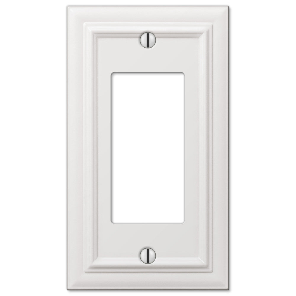 Continental White Cast - 1 Rocker Wallplate - Wallplate Warehouse