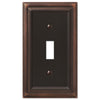 Continental Aged Bronze Cast - 1 Toggle Wallplate - Wallplate Warehouse
