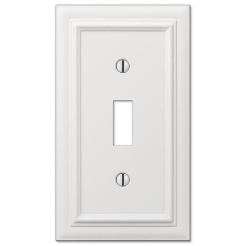 Continental White Cast - 1 Toggle Wallplate - Wallplate Warehouse